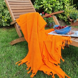Cotton Double Faced Towel, Orange
