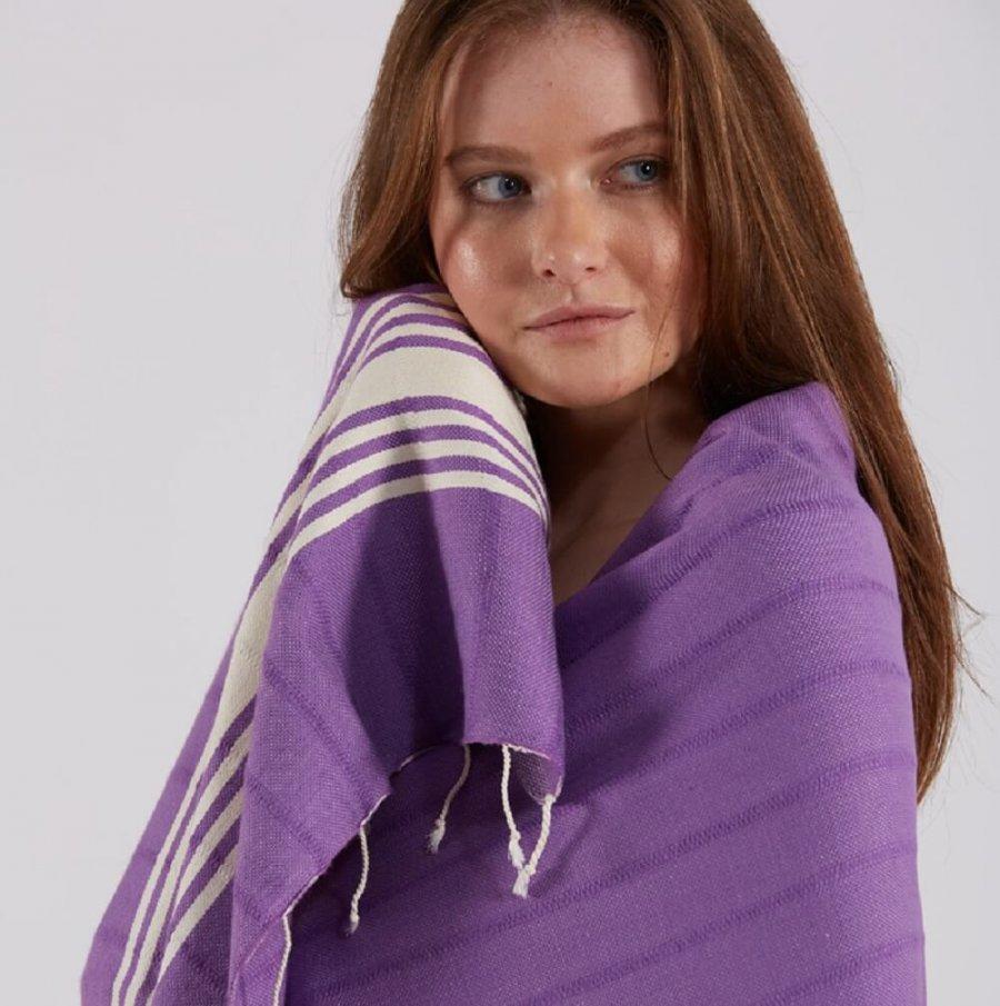 Cotton Hammam Towel, Purple
