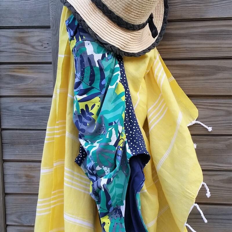 Cotton Hammam Towel. Yellow