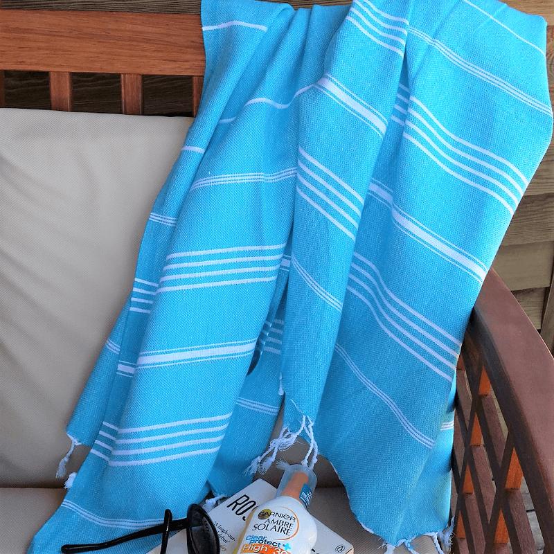 Cotton Hammam Towel, Turquoise