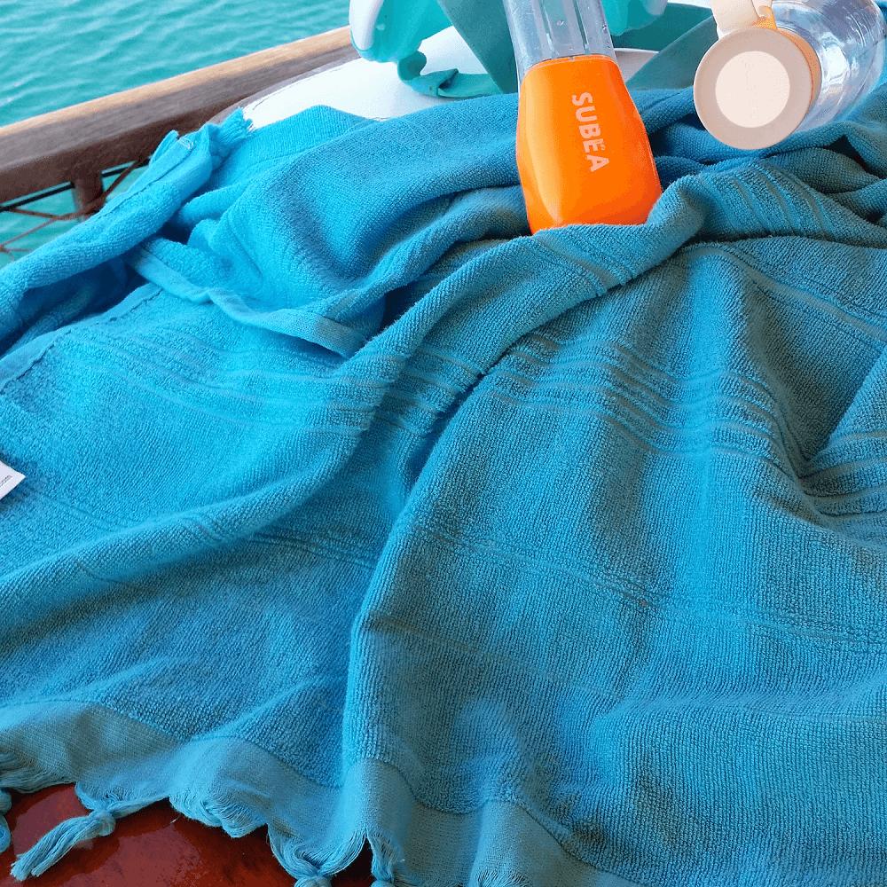 Breezy Hammam Towel, Turquoise