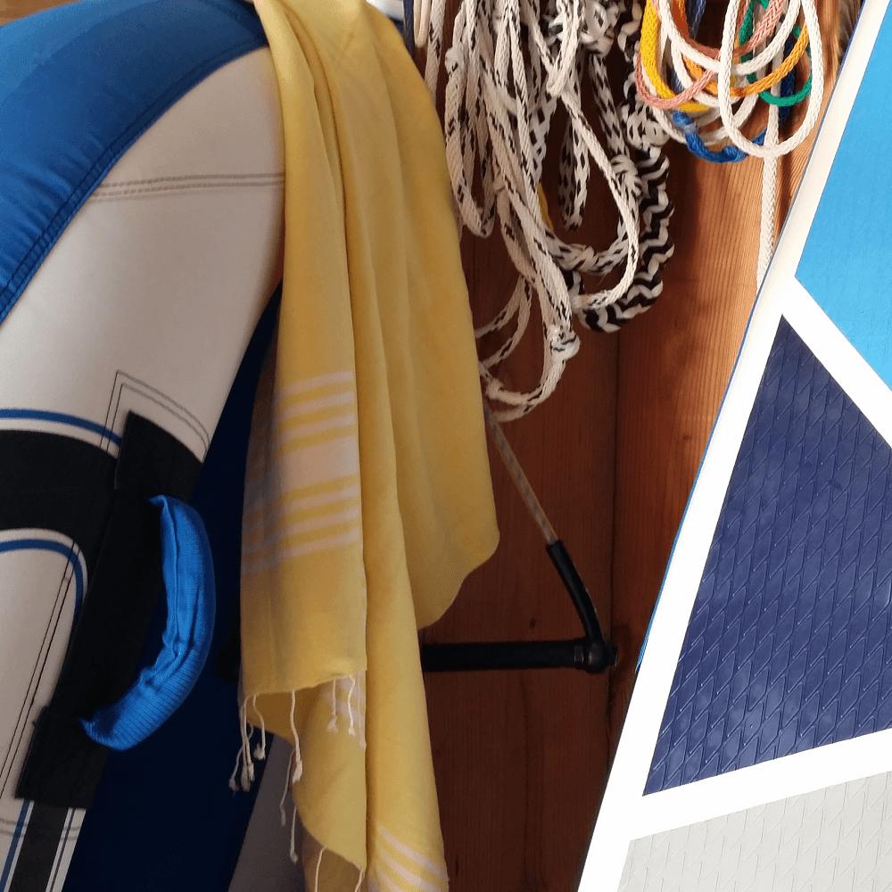 Indigo Hammam Towel, Yellow