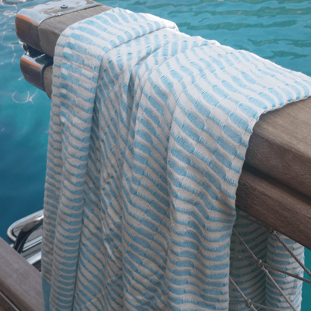 Twist Hammam Beach Towel, Aqua