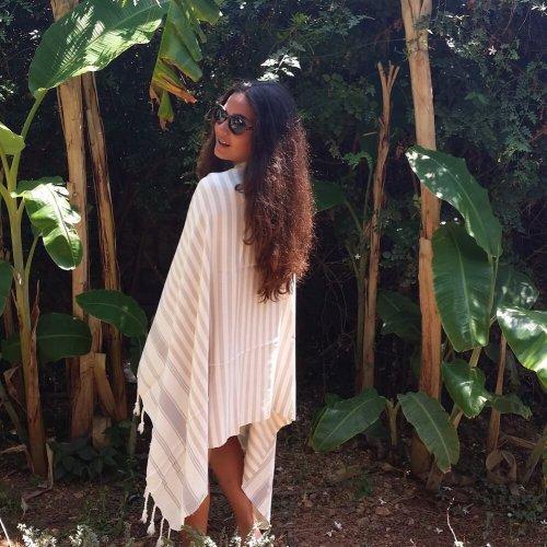 Bamboo Hammam Towel, Beige