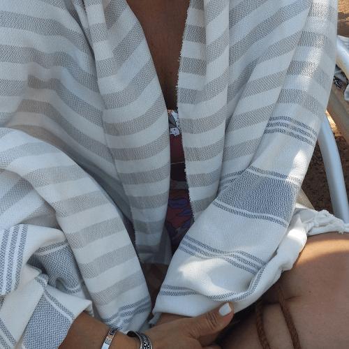 Cotton Candy Bamboo Hammam Beach Towel