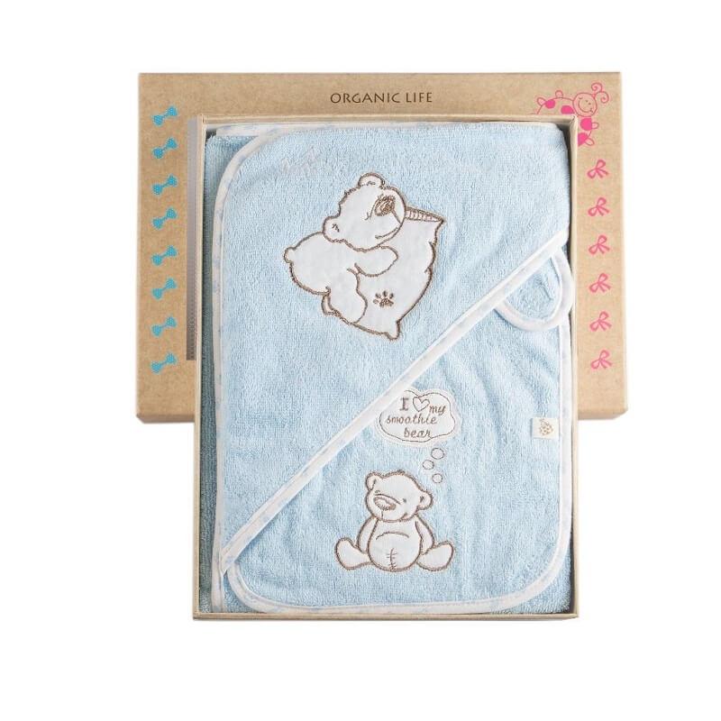 Organic cotton baby poncho set