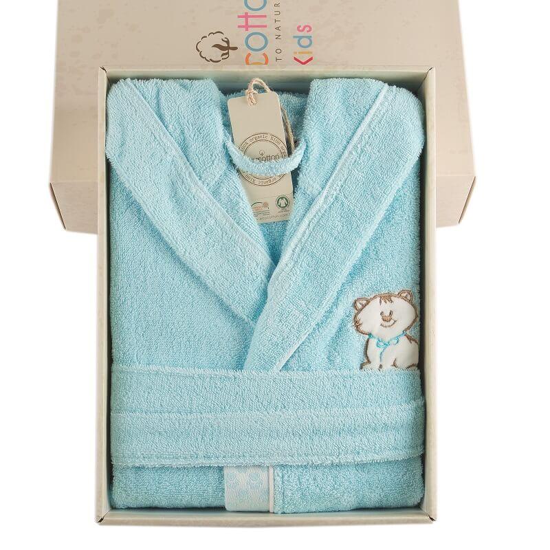 Organic cotton bathrobe for kids