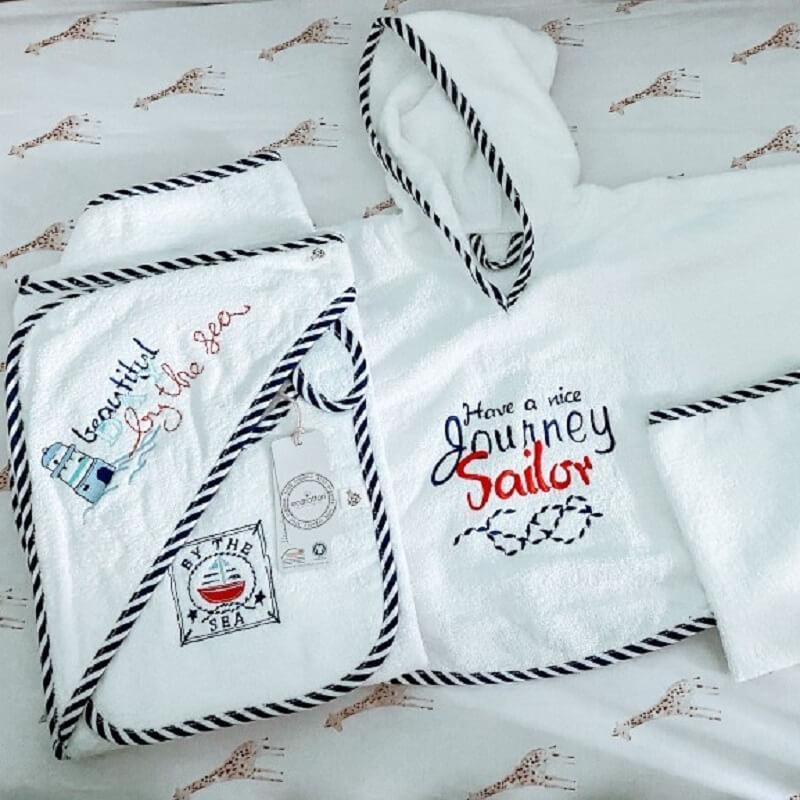 Baby Organic Cotton Poncho Set