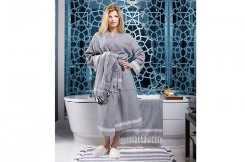 Tuana Cotton Peshtemal Bathrobe & Bath Sheet