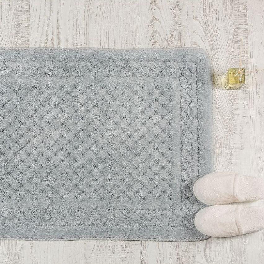 Cotton Bath Mat Grey