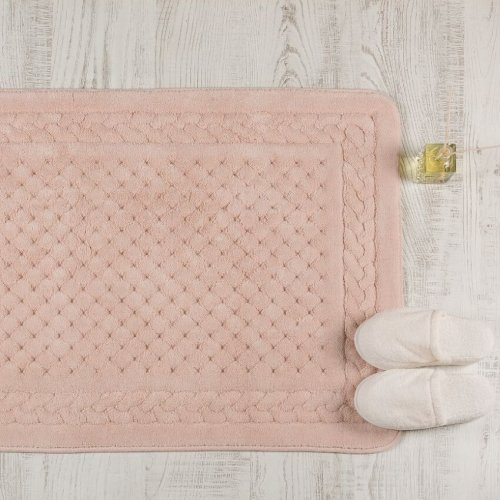 Cotton Bath Mat Dusty Pink