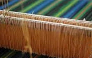 Weaving cotton throws
