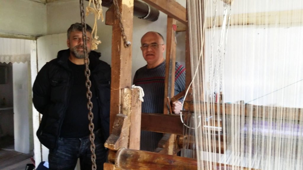 Two male weavers in the small town of Buldan