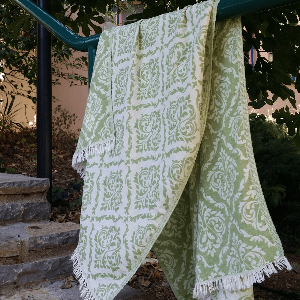 Chirali Soft Cotton Damask Throw
