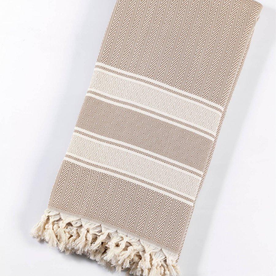 Cotton Bedspread, Beige