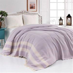 Cotton Bedspread, Lilac