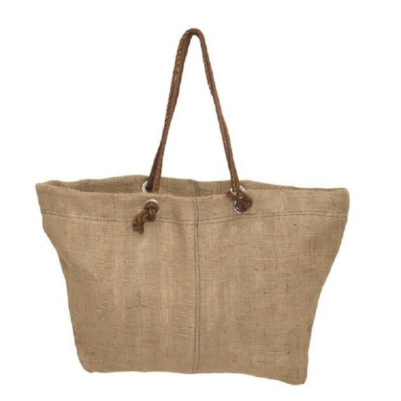 jute reversible beach bag