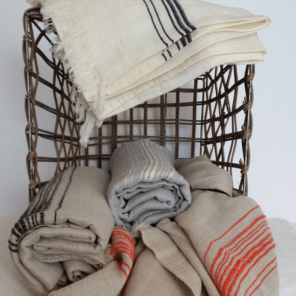 Marl Linen Hammam Bath Sheet Bath Towel And Linen Cotton And Olive