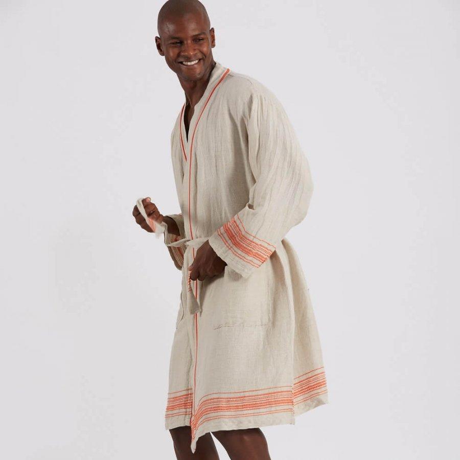 Linen unisex Bath robe