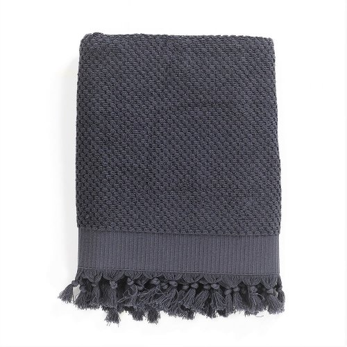 Turkish Cotton Bath Towel, Anthracite