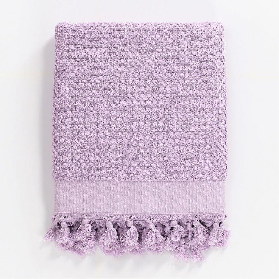 Turkish Cotton Bath Towel, Lilac