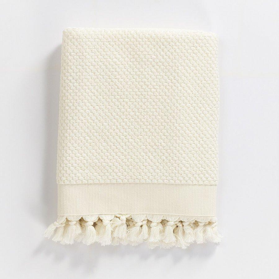 Turkish Cotton Bath Towel, Off White