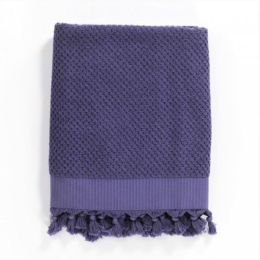Turkish Cotton Bath Towel, Purple