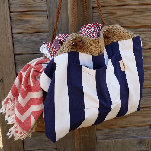 Elba Reversible Beach Bag