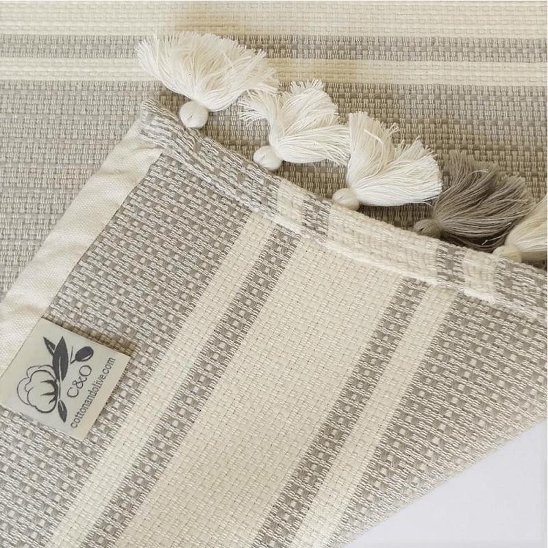 Cotton Mat, Beige