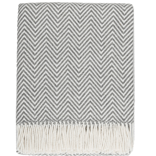 Dwell Wool Throw, Smoke