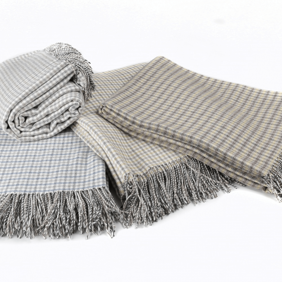 Hygge Cashmere Check Throw