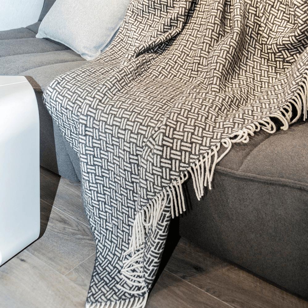 Loop Wool Throw, Antracite