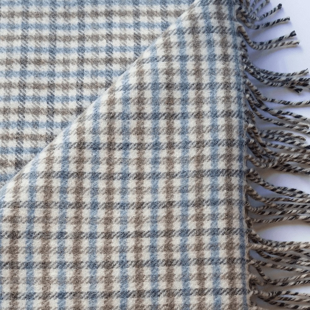 Hygge Cashmere Check Throw, Tortilla Brown