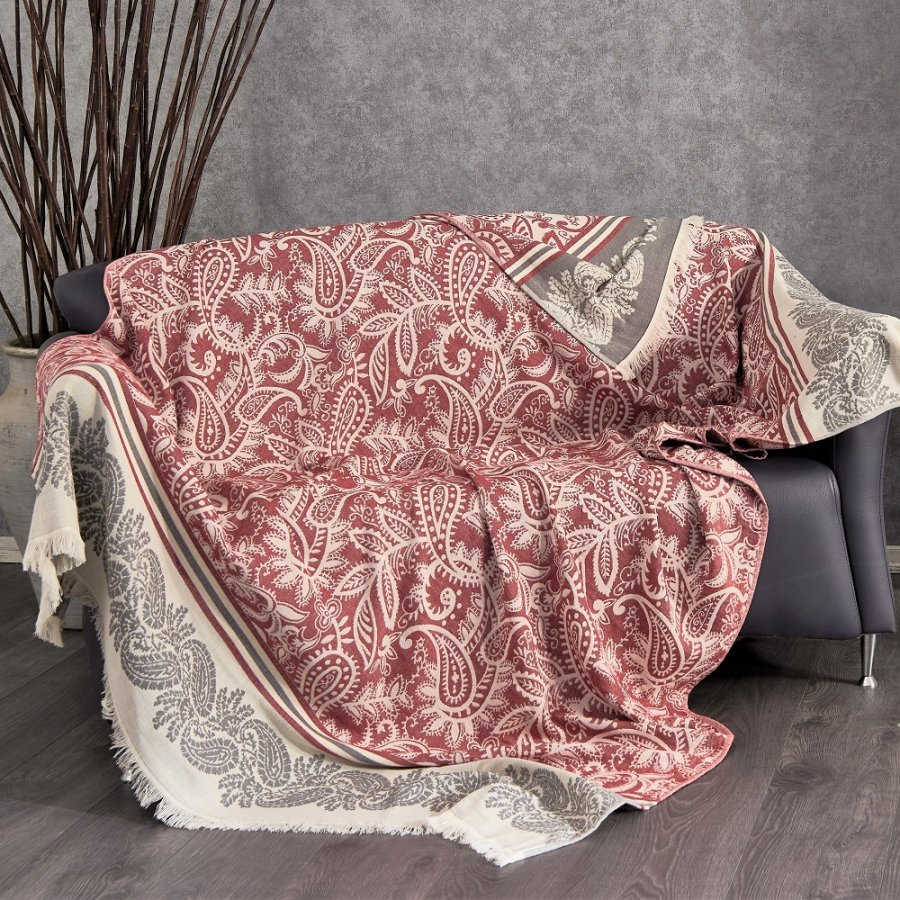 Cotton Throw, Red
