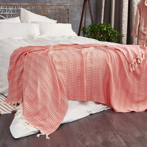 Cotton Throw, Pink
