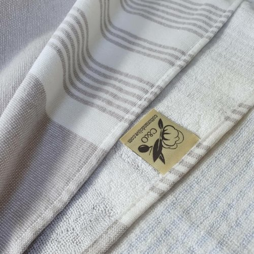 Meridien Cotton Bath Towel Taupe