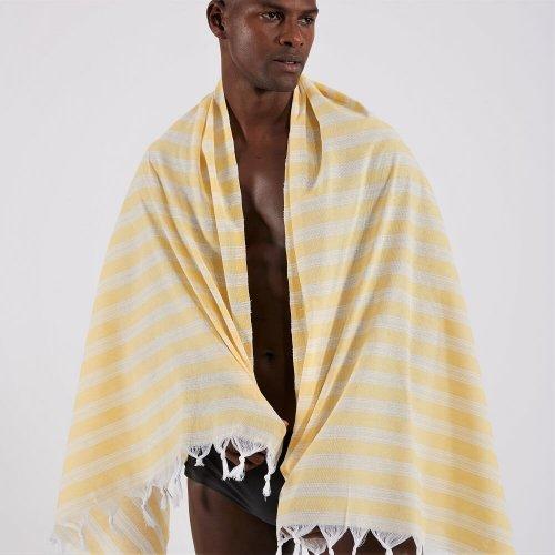 Cotton Hammam Beach Towel, Yellow