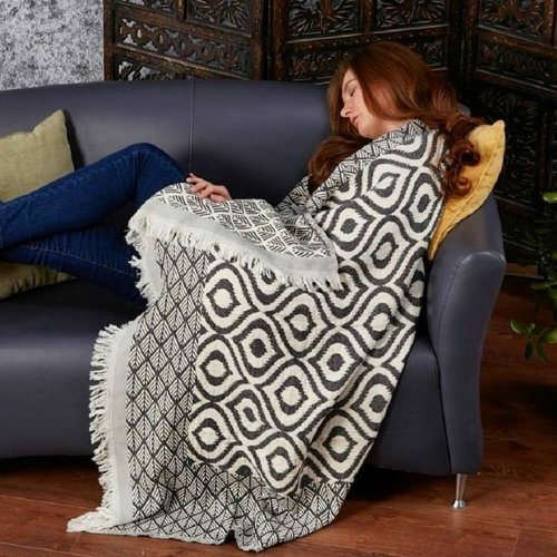 Cotton Throw, Anthracite
