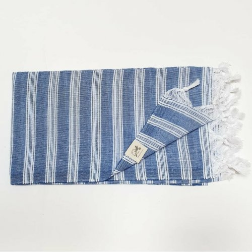 Lightweight cotton hammam towel - royal blue