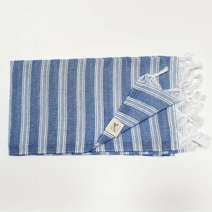 Lightweight cotton hammam towel - royal blue