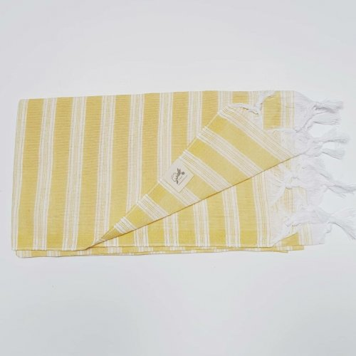 Lightweight cotton hammam towel - yellow