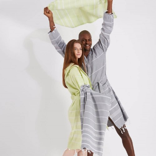 Cotton Unisex Hammam Bathrobe Set