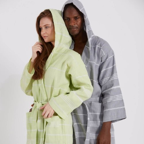 Tassel Unisex Hammam Robe + Bath Sheet + Hand Towel