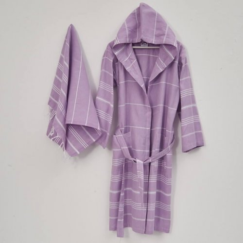 unisex bathrobe and bath sheet set