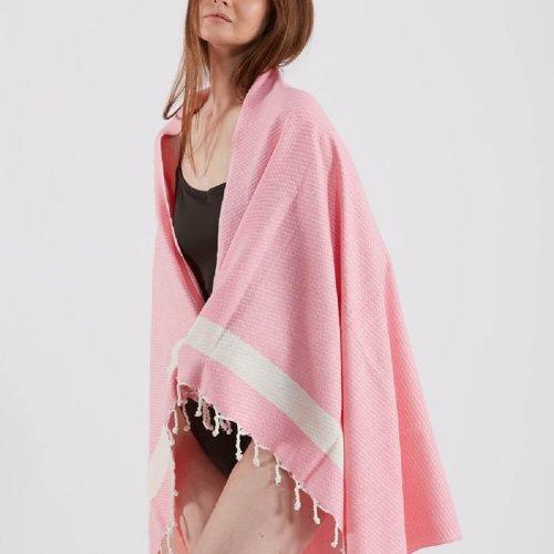 Bamboo Hammam Towel, Pink