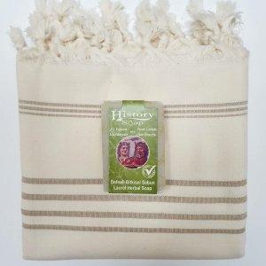 Cotton Hammam Towel with Soap Bar