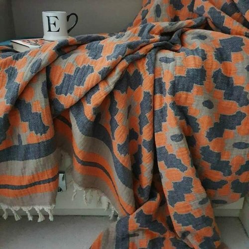 Cotton Jacquard Throw