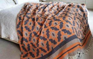 Leyla Orange Lifestyle bedspread